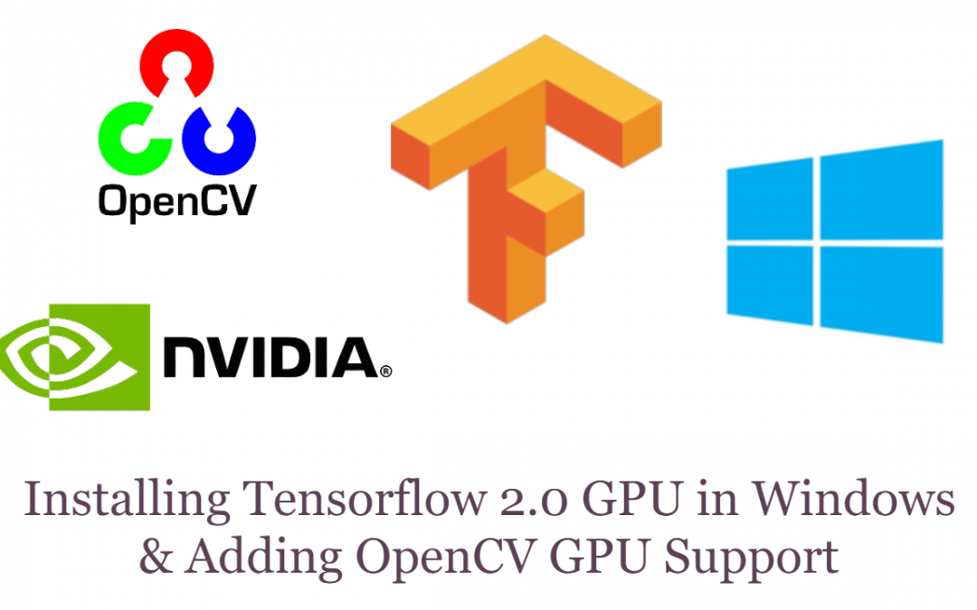 Installing Tensorflow 2.0 GPU in Windows & Setting Up Your Nvidia GPU for OpenCV DNN