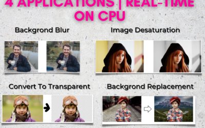 Building 4 Applications Using Real-Time Selfie Segmentation in Python
