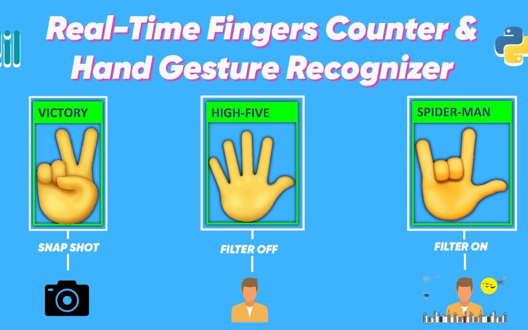 Real-Time Fingers Counter & Hand Gesture Recognizer with Mediapipe and Python