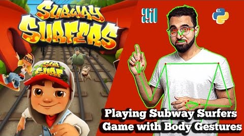 Controlling Subway Surfers Game with Pose Detection using Mediapipe and Python